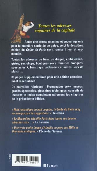 Le guide musardine du paris sexy 2001-2002
