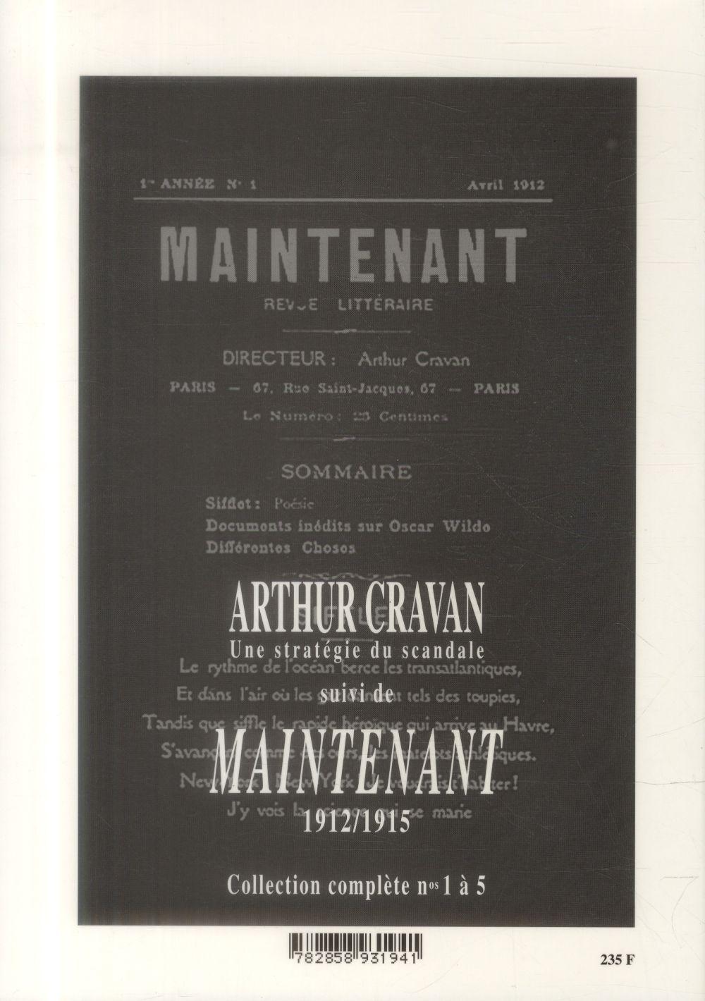 Arthur Cravan ; une stratégie du scandale