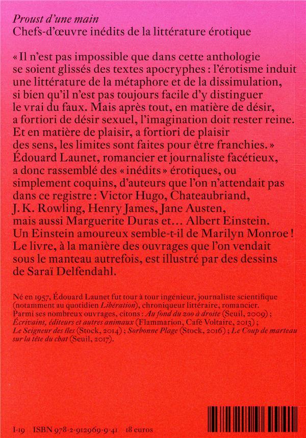 Proust d'une main ; chefs d'oeuvre inédits de la littérature érotique