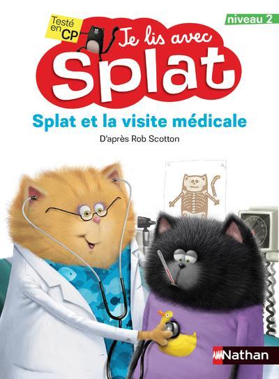 Je lis avec Splat ; Splat et la visite médicale ; niveau 2 (édition 2021)