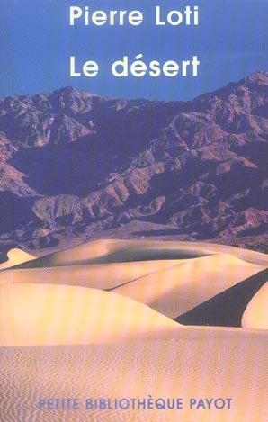 LE DESERT - FERMETURE ET BASCULE VERS 9782228922968 LOTI-P