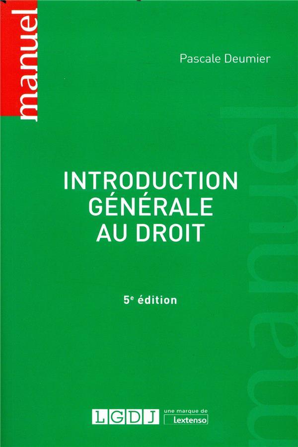Introduction generale au droit - 5e ed.