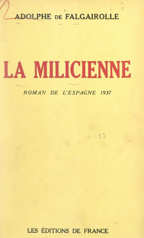 La milicienne  - Adolphe de Falgairolle