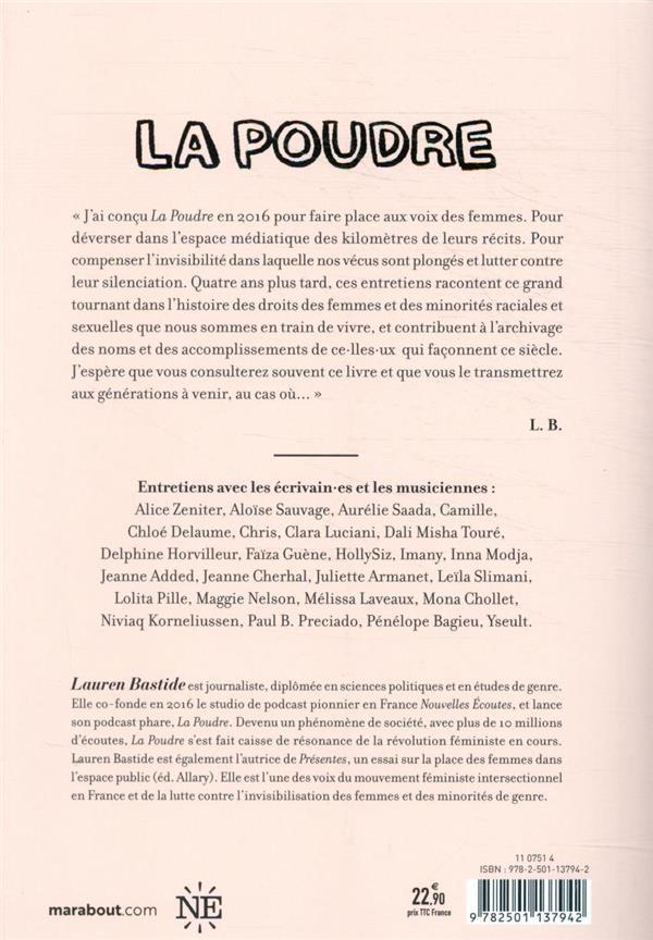 La poudre t.1 ; écrivain.es & musiciennes