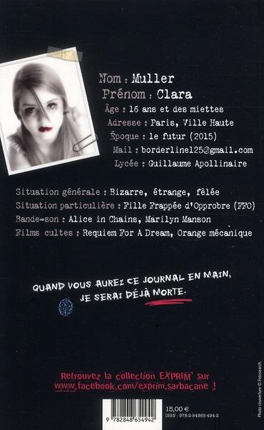 Le journal infirme de Clara Muller