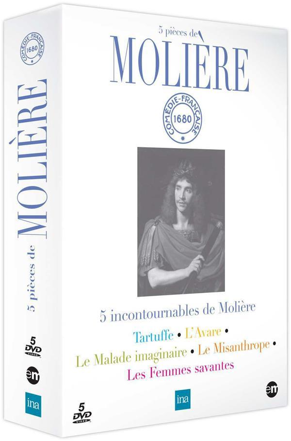5 pièces de Molière : Tartuffe + L'avare + Le malade imaginaire + Le misanthrope + Les femmes savantes