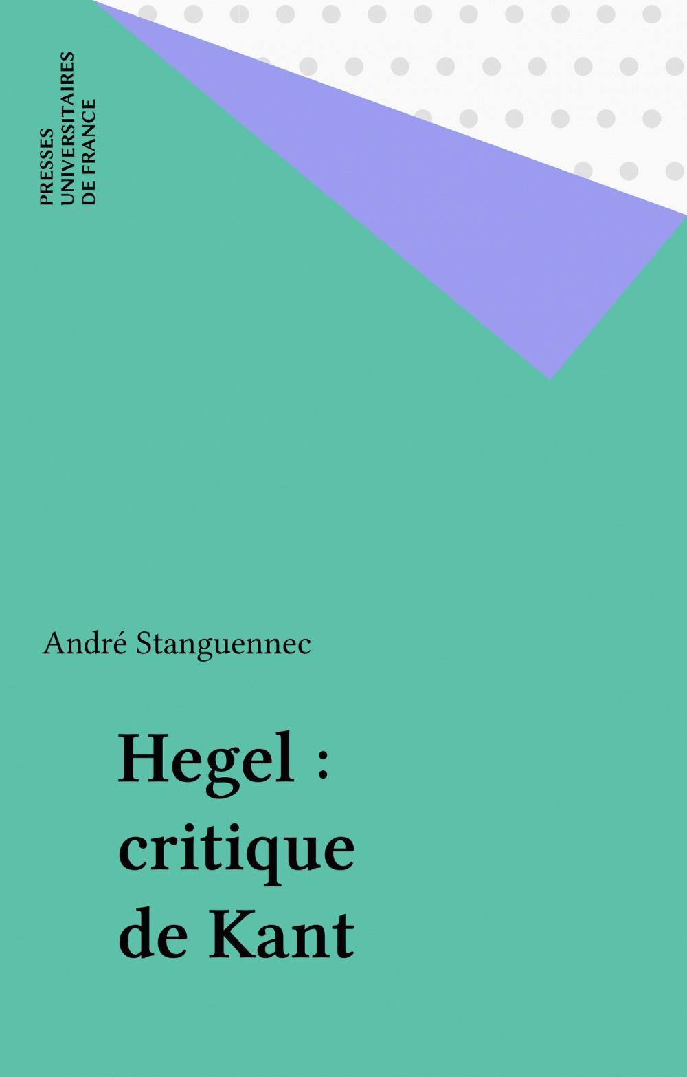 Hegel, critique de Kant