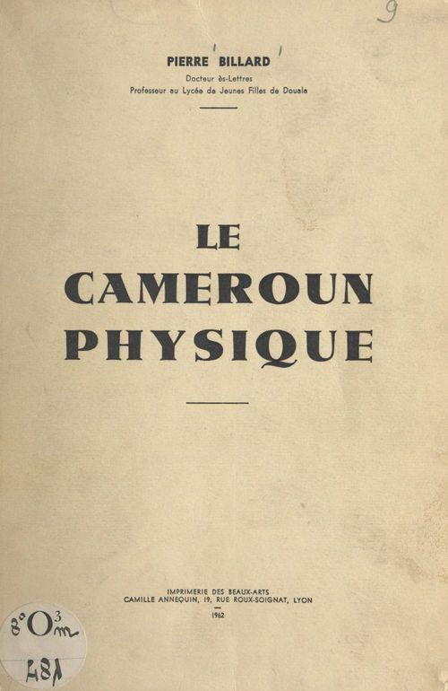 Le Cameroun physique