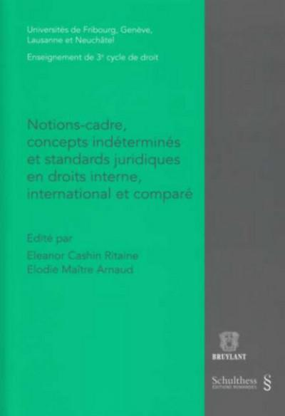 Notions-Cadre, Concepts Indetermines Et Standards