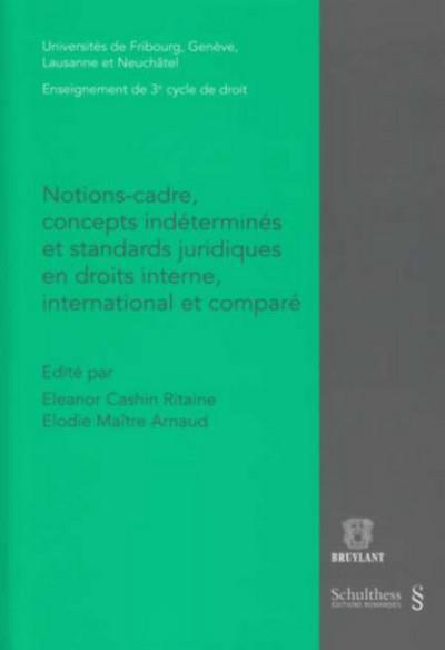 Notions-Cadre, Concepts Indetermines Et Standards