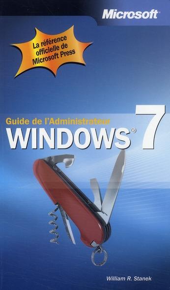 GUIDE DE L'ADMINISTRATEUR ; Windows 7