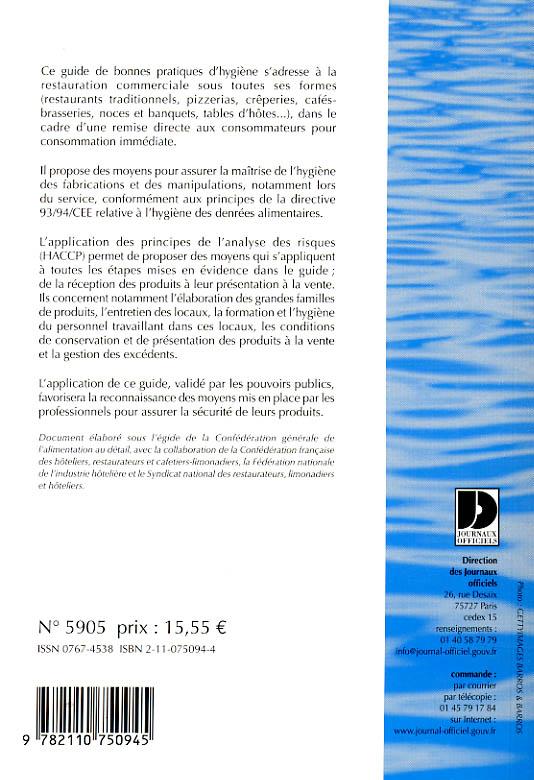 Restaurateurs (édition 2005)