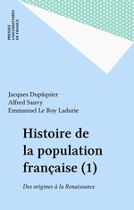 Vente Livre Numérique : Histoire de la population française (1)  - Jacques Dupaquier