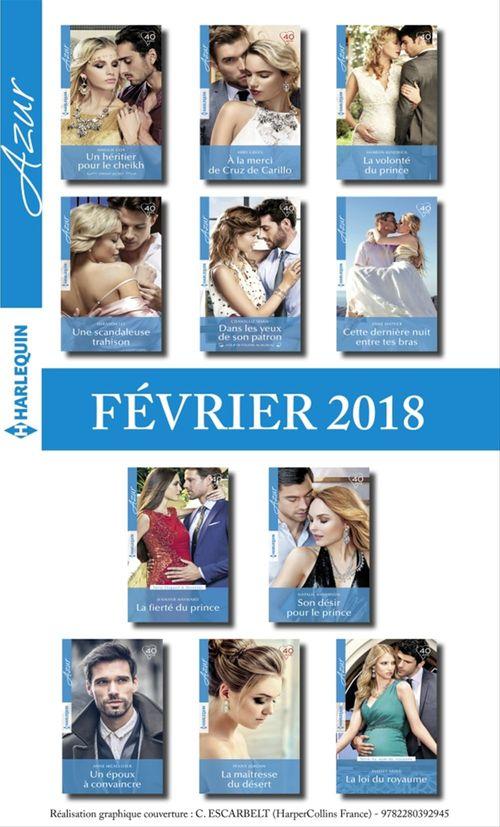 11 romans Azur ( nº3916 à 3926 - février 2018)