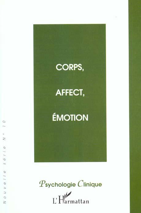 Corps, affect, émotion  - Jean-Michel, Hirt,  - Olivier, Douville,