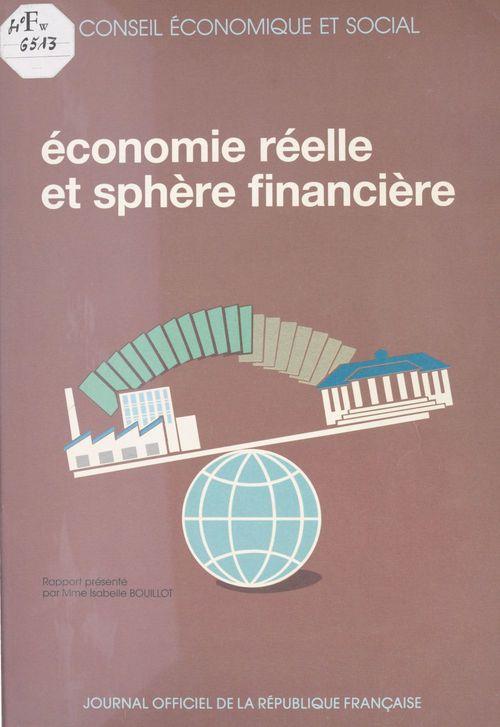 Économie réelle et sphère financière