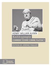 Comment écrire comme Platon ?