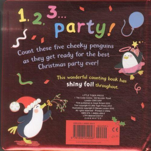 Five christmas penguins