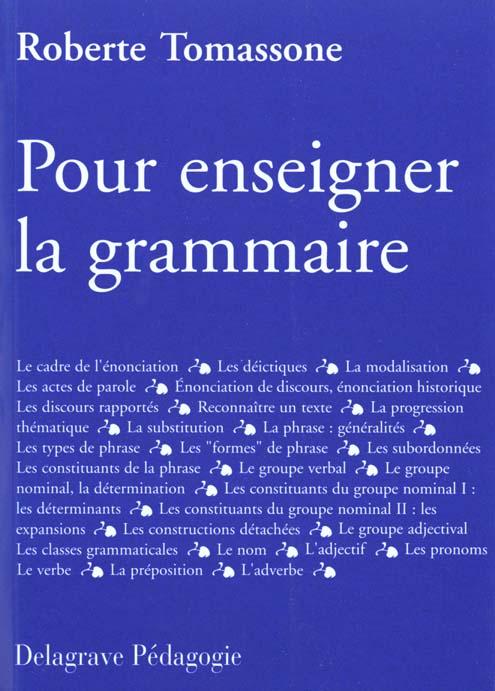 Pour Enseigner La Grammaire