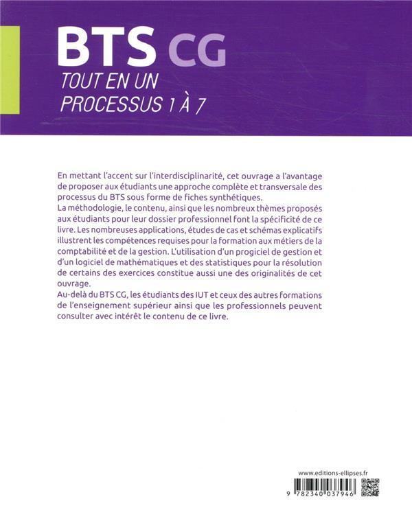 Bts cg - tout en un processus 1 a 7 - 2e edition