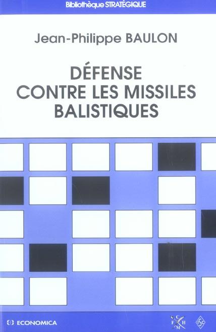 Defense contre les missiles balistiques