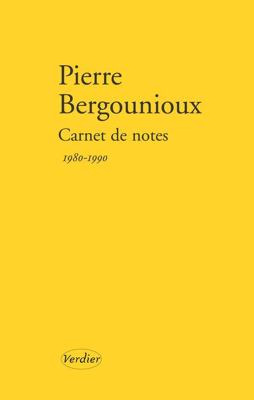 Carnet de notes ; 1980-1990
