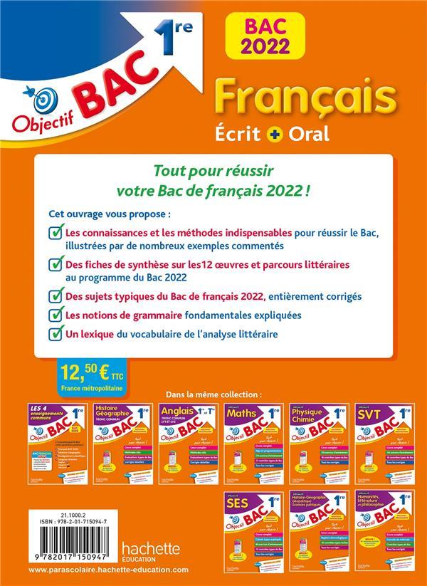 objectif bac ; français écrit et oral ; 1re (édition 2022)