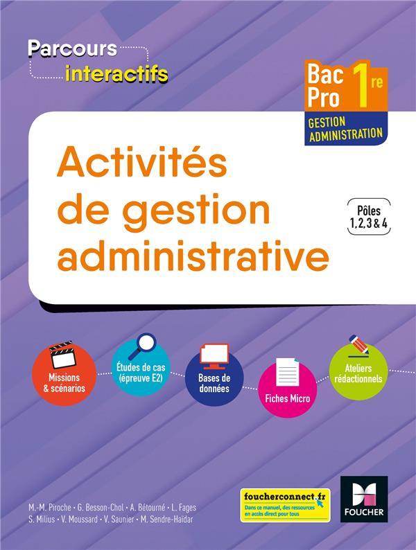 Parcours interactifs ; activites de gestion administrative ; 1re Bac pro GA ; manuel de l'élève (édition 2019)