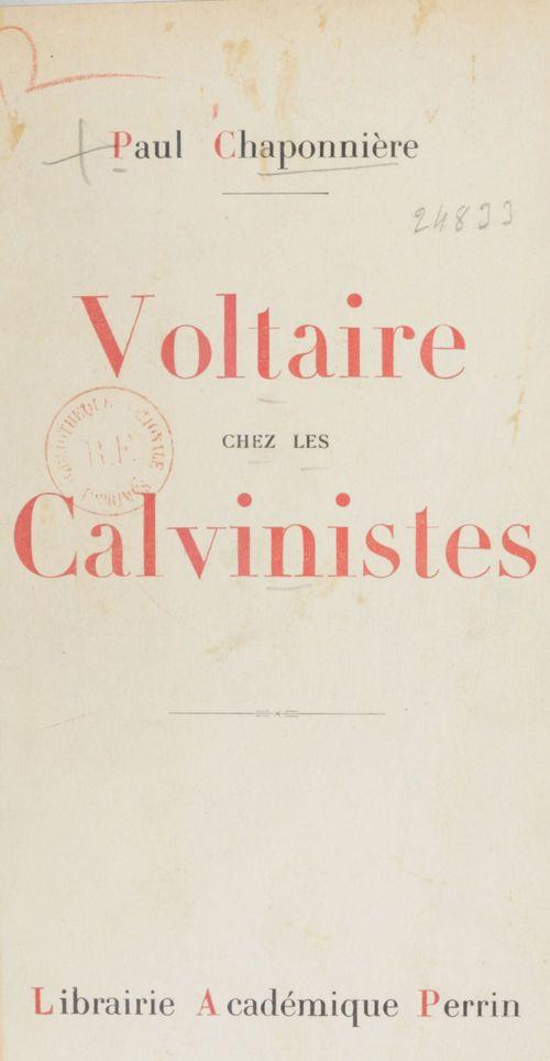 Voltaire chez les calvinistes