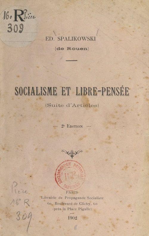 Socialisme et libre-pensée
