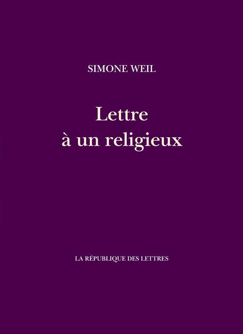 Lettre à un religieux