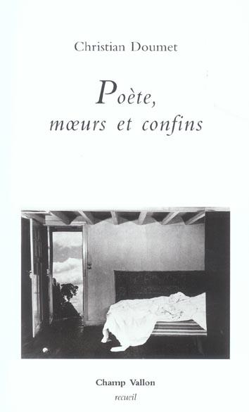 Poete moeurs et confins