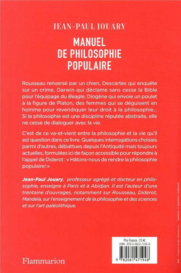 Manuel de philosophie populaire ; sous les idées, la vie