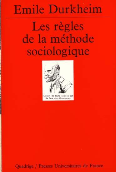 regles de la methode sociologique (les)
