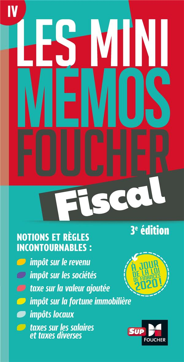 LES MINI MEMOS FOUCHER  -  FISCAL (3E EDITION) COLLECTIF