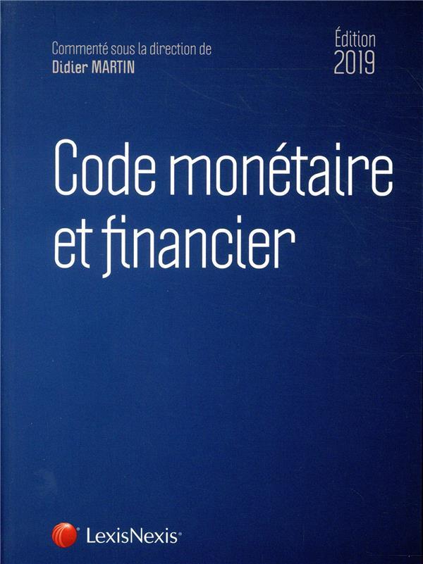 Code monetaire et financier 2019