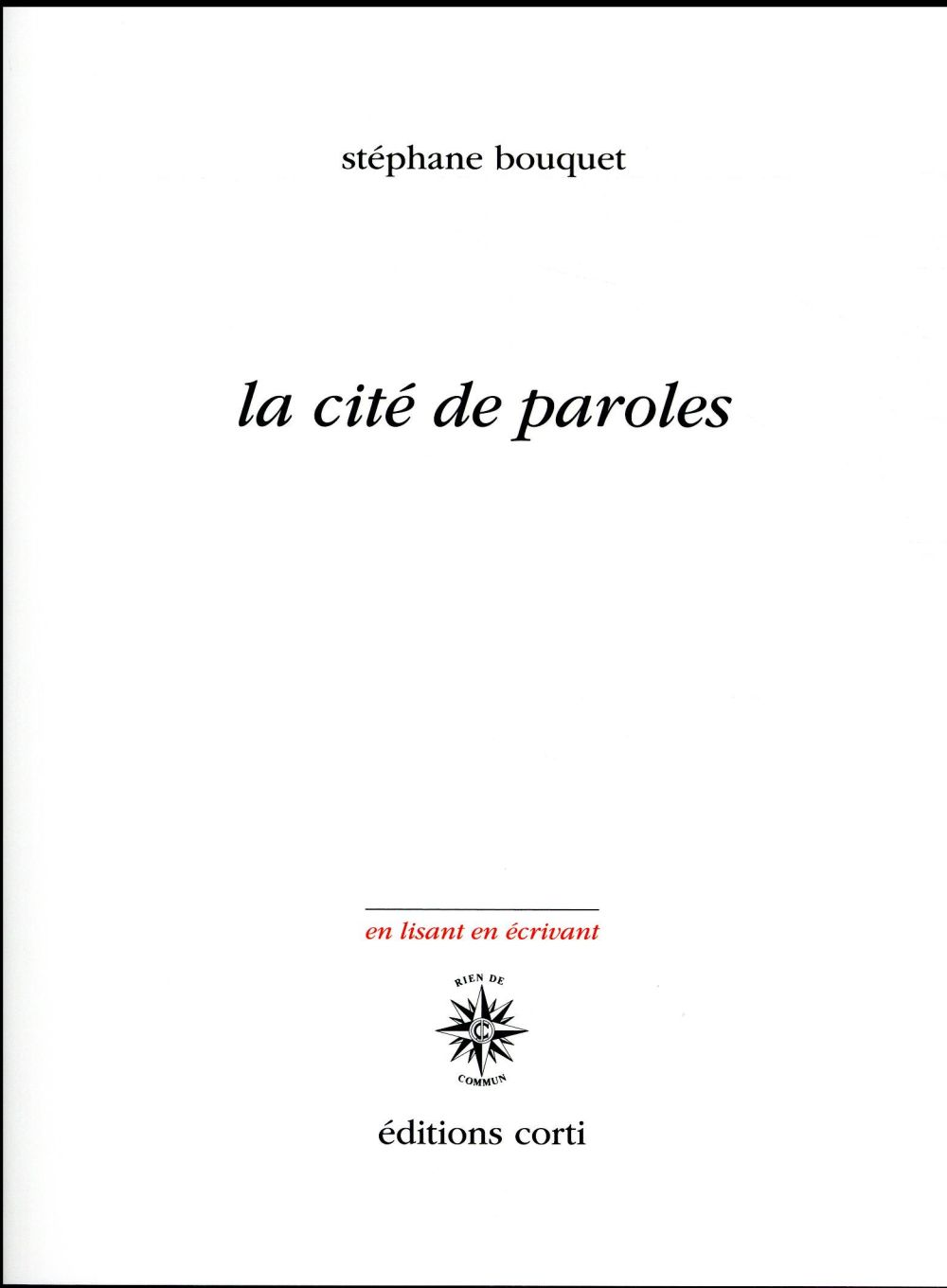 La cité de paroles