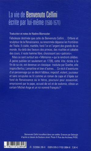 La vie de Benvenuto Cellini par lui-même (1500-1571)