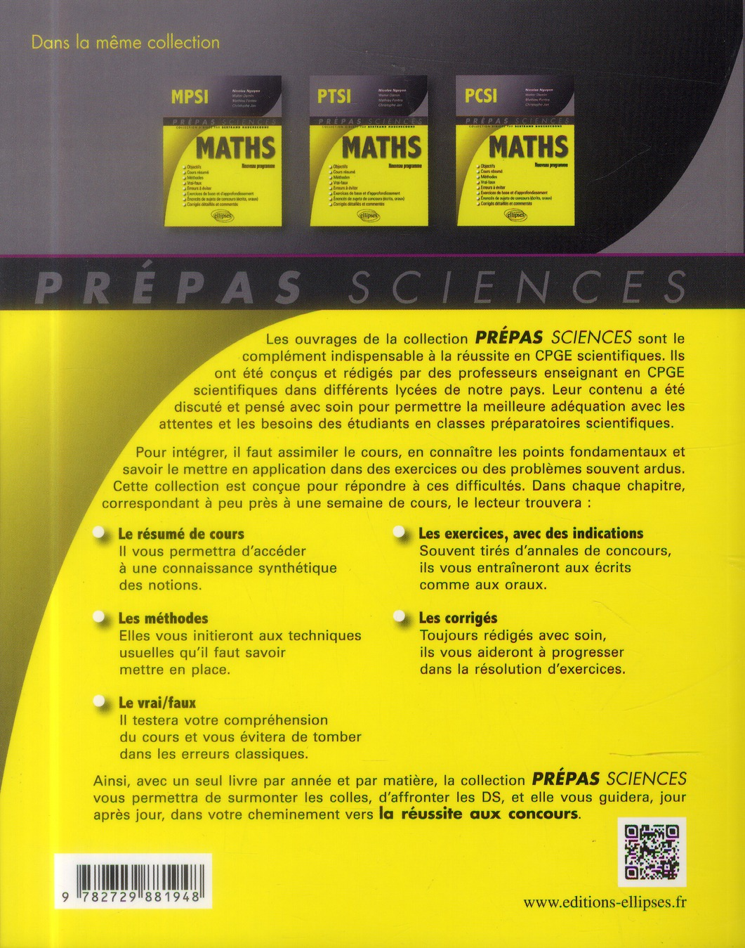 maths ; PTSI