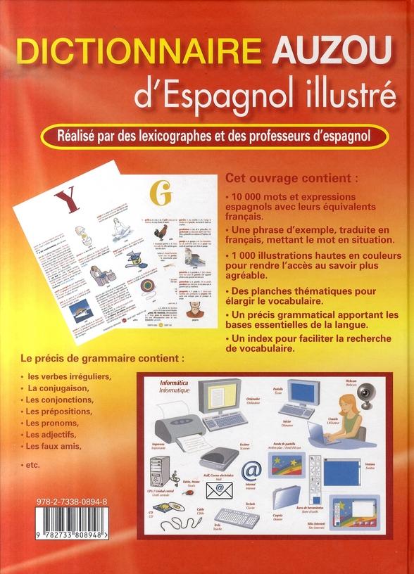Dictionnaire Auzou d'espagnol illustré