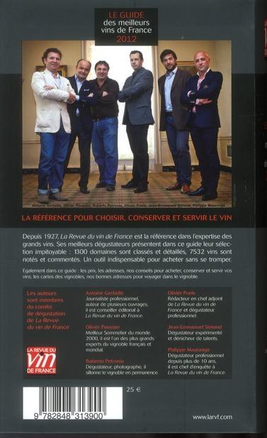 Le guide des meilleurs vins de France ; le guide des meilleurs vins à moins de 20 euros (édition 2012)