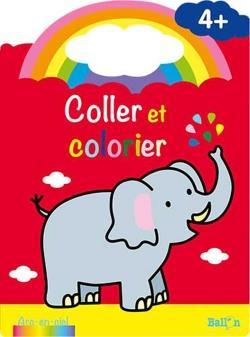 Coller et colorier ; éléphant