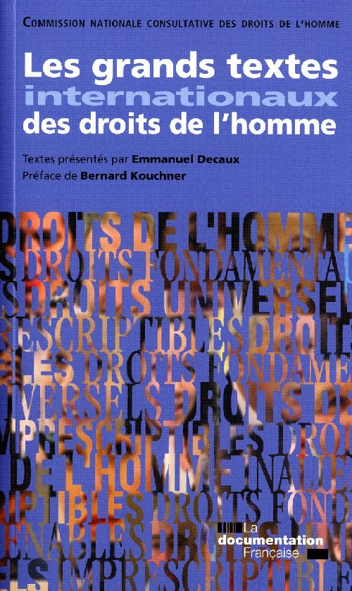 Les Grands Textes Internationaux Des Droits De L'Homme