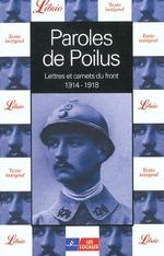 Couverture de Paroles de poilus ; lettres et carnets du front, 1914-1918