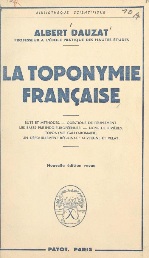 La toponymie française