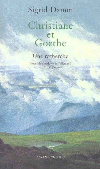 Christiane Et Goethe