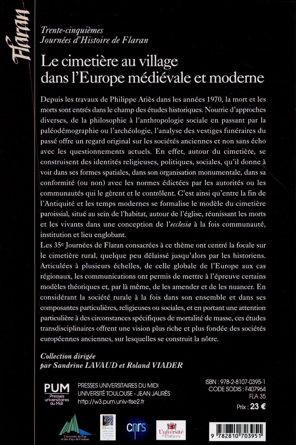 Cimetiere au village dans l europe medievale et moderne