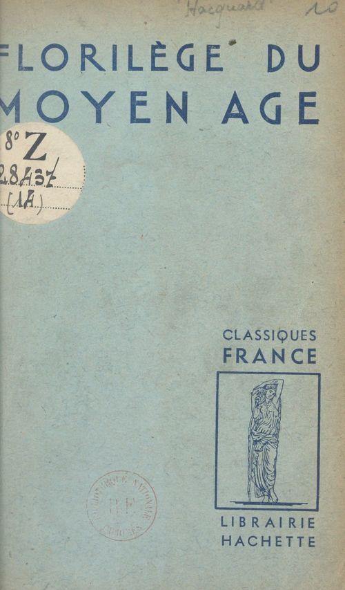 Florilège du Moyen Âge