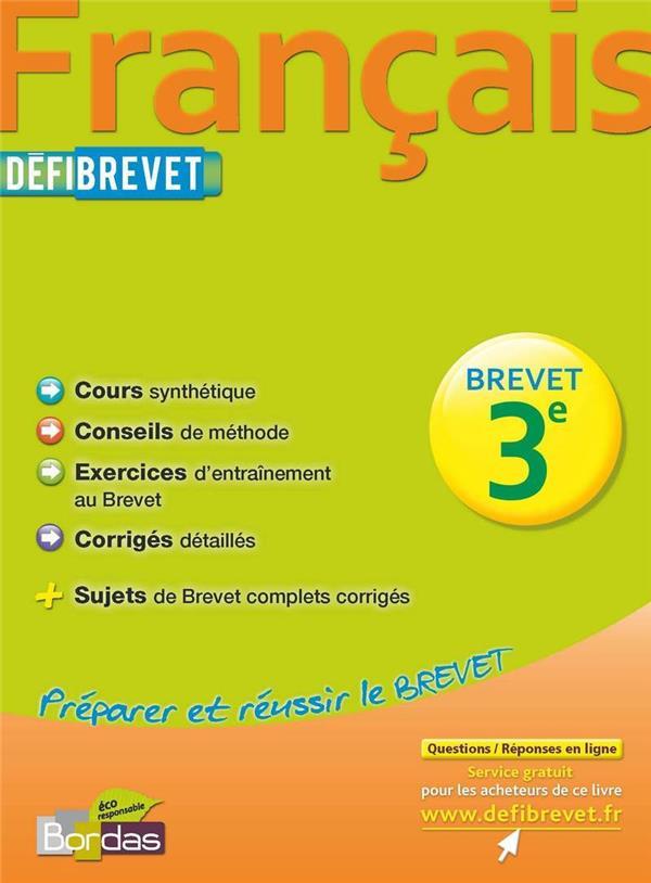 DEFIBREVET ; français ; 3e (édition 2012)