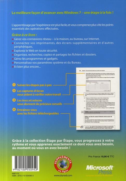 Windows 7 ; étape par étape ; le livre idéal pour débuter avec Windows 7